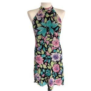 Evan Picone Floral Halter Dress Size 8P